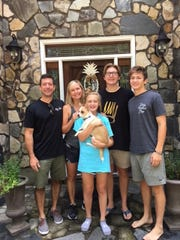 Stephen, Rae Ann, Lily, Max and Alex Gruver in a family