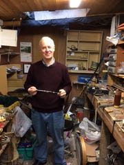 Michael Vignoles in his workshop.