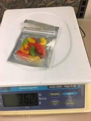 Marijuana-infused gummy candies were fod as part of