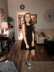 Emma Johnson, a sophomore on the Reed girls varsity