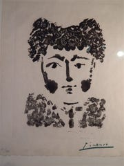 """Torero,"" a work by Spanish artist Pablo Picasso, was"