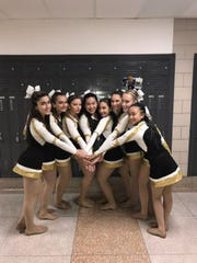 Nicole Minson (fourth from right) with the Paramus Catholic Dance Team.