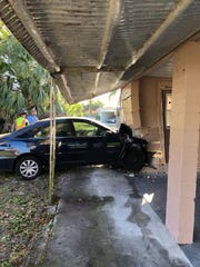 One woman was transported to a local hospital with