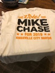 Mike Chase, owner of Calhoun's and other popular restaurants, already has T-shirts made for his city mayoral bid.