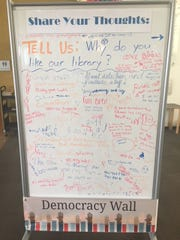 The Democracy Wall project allows citizens to respond directly to posted questions about city services and community needs.