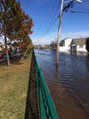Flooding is show Saturday along Long Branch Avenue