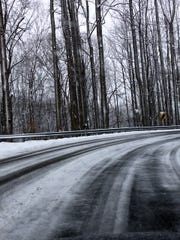 Route 151 in Nelson County on Wednesday.
