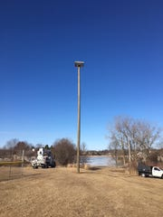 Osprey platform at Vietnam Veterans Park in Two Rivers.