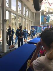 The U.S. Navy Blue Angels.