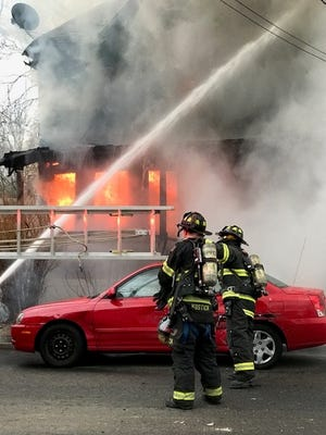 Fire at Arlington Avenue home in Plainfield on March 28.