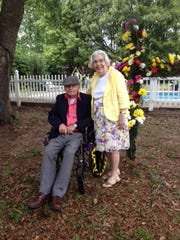 Bill and Carolyn Carter at Easter Sunrise Service in