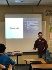 Christian Gomez from Westlake High School prepares