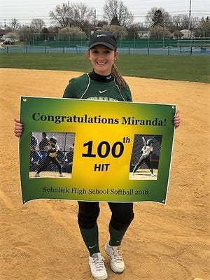 Schalick senior softball player Miranda Rodriguez.