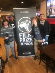 Shown left to right with Film Prize Jr. are: Zach Storie,