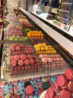 No shortage of macarons to chose from at Laduree in Paris.