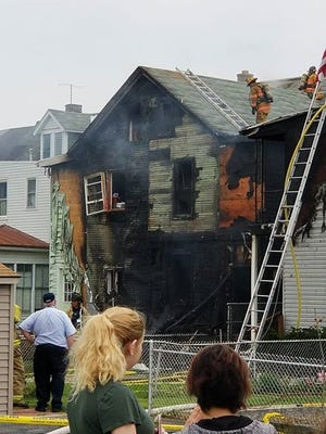A two-alarm fire was reported at 217 Lehman St. at 1:45 p.m. Thursday afternoon, May 10, 2018.