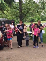Members of Girl Scout Troop 2131 of Bellville turned
