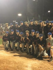Silver Creek poses for a team photo after their win