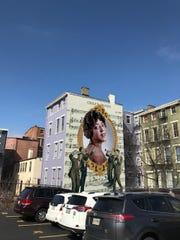 Rendering of a new ArtWorks mural honoring singer Mamie