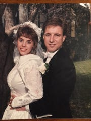 Suanne Colegrove on her wedding day 25 years ago with