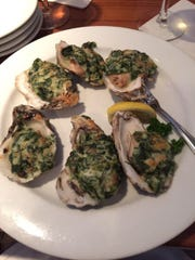 The oysters Rockefeller are popular at the The Sandbar