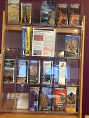The public room has a variety of free brochures on