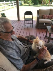 """Chico, pictured with owner Jose """"Pepe"""" Sanchez, has"""