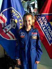 Scarlette Liftin of Lebanon, and a student at The Peck School in Morristown, recently attended Space Academy at the U.S. Space and Rocket Center.