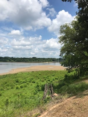 The Ouachita River has been drawn down for inspection and subsequent emergency repairs of the Columbia Lock and Dam. The river is shown here near the Moon Lake boat ramp on Monday.