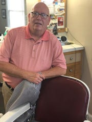Larry Creamer still shaves the old-fashioned way.