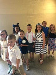 2018 Henderson County Fair Little Miss and Mister Pageant contestants.