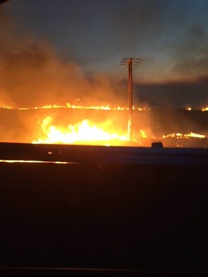 The South Valley Fire blazes through Wasco County.