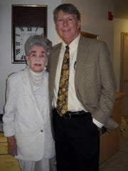 Gerald Ensley and Lillian Cox, July 30, 2011, at her