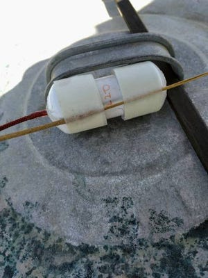 A pipe bomb was found at a hunting area south of U.S. 30 on Monday by the Boone County Sheriff's Office. Contributed photo