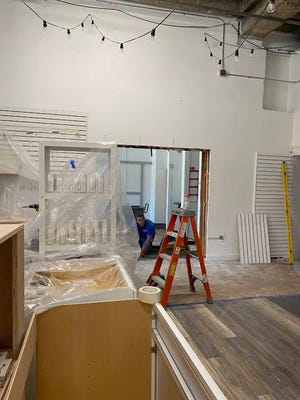 A doorway is cut between Nook and Nest and the space previously occupied by The Diva Inside, allowing the Main Street business to expand its offerings to include stationery. Photo contributed by Mindy Bergstrom