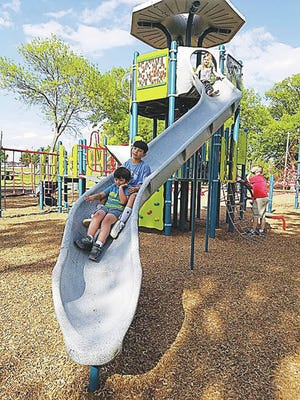 Playgrounds at three of the city's most popular parks are open. Courtesy