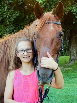 Landrie Croskey was a class winner in the Holmes County Fair Horse Show.