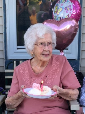 Jeanne Hough, a descendent of Gideon Granger, is 100 years old as of June 9.
