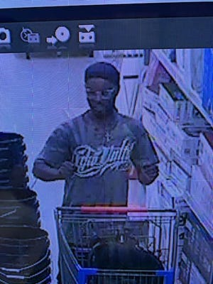 The Lubbock County Sheriff's Office shared this photo of a suspect who is accused of stabbing two Sheriff's deputies Saturday at Wal-Mart.
