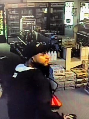 Police are searching for a man suspected of burglarizing the Occum Package Store.