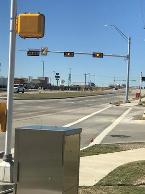 Traffic lights installed near Anna Town Center in 2019 are one of many new sets of signals that residents can expect to see in the coming years.