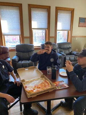 Papa Gino's recently surprised the firefighters at the Leominster Fire Station with free pizzas as part of the restaurant's longstanding Fire Safety Month programming.