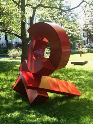 Linden Place Mansion is participating in Sculpture on the Lawn through Labor Day.