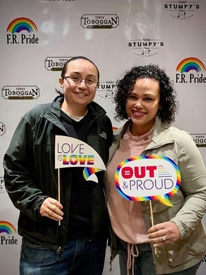 FR Pride co-founders, from left, Karina Valencia and Nikita Viera, seen here in a photo from a prior event, announced they are canceling the FR Pride Ride this Saturday to give voice to the Black Lives Matters movement.