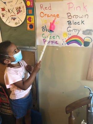 Aubrielle Sanchez at Tender Times Child Care in Raynham.