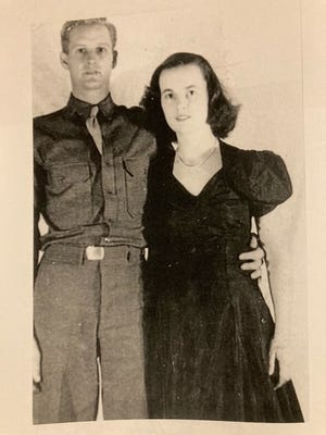 The letters dated from World War II, and were back and forth epistles of newlyweds Mel and Jane Atherton.