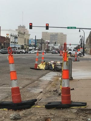 The intersection at Fifth and Main will be closed for about a month, starting Monday.