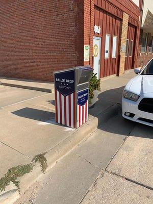 A drive-thru voting drop box in Victoria.