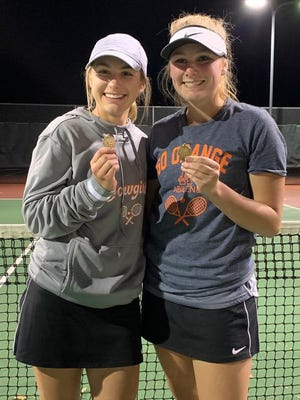 Abilene's Maddie Beswick and Abi Lillard