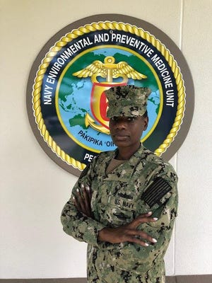 Kendra Dobson, a Varnville native, is on the front lines in the U.S. Navy's fight against COVID-19.